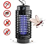 NIKAND inc Bug Zapper Electric Mosquito Killer Lamp - Insects Killer for Indoor & Outdoor Fly Pests Attractant - Bug Zapper Table Top Electric UV Light Trap Insect - Pest Control Grid Electronic Patio