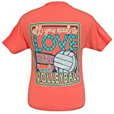 Girlie Girls All You Need is Love and Volleyball Short, Charcoal, Size Medium