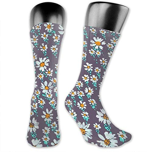 Drempad Luxury Calze Flowers Cotton Casual Colorful Fun Below Knee High Athletic Socks