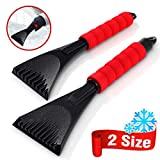 Audew Premium Ice Scraper for Car Windshield, Magical Ice Scraper with Foam Handle,Heavy-Duty Frost and Snow Removal Tool for Car Windshield and Window,Scratch-Free(2 Pack)