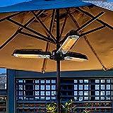 Patio Heaters Parasol Umbrella Heater Overheat Protection 1500w Infrared Umbrella Parasol Patio Heater Infrared Outdoor Parasol Umbrella Heater for Pergola or Gazebo