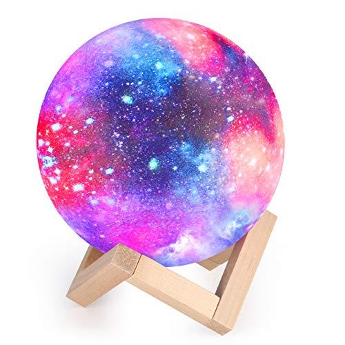15cm Mond Lampe Nachtlampe 3D Mondlicht, 16 Farbe LED RGB Sternenhimmel Mondlampe Nachtlicht...