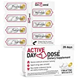 DayDose Active | Award-Winning Daily Vitamin Pack for Women and Men | Advanced, Concentrated Essential Multivitamins and Minerals + Omega 3 + Ginseng, Turmeric, and Coenzyme Q10 | 28 Day Nutrients
