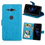 WVYMX Sony Xperia XZ2 Compact Phone ケース, [Folio Cover][Stand Feature] [3 Credit Card ……