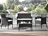 Bestmobilier - Marbella - Salon Bas de Jardin 4 Places - en résine tressée -...