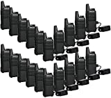 Retevis RT22 Walkie Talkies Mini, Rechargeable Two Way Radio Long Range, 2 Way Radio Small, Portable VOX, for Business Commercial Work School Church Restaurant (20 Pack,Black)
