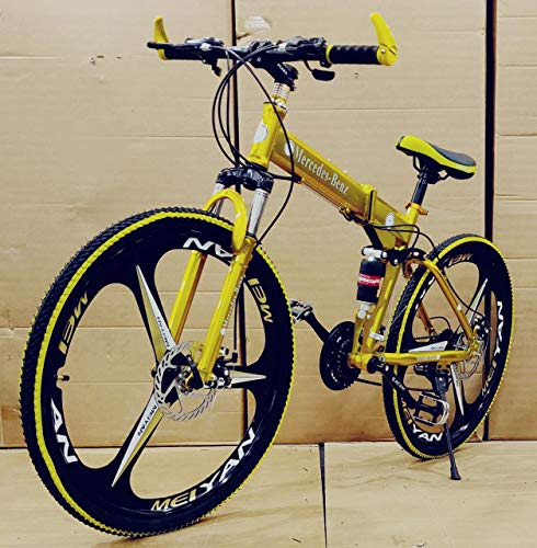 Foldable Sports MTB Cycle with 21 Derailleurs (Gears) in Golden