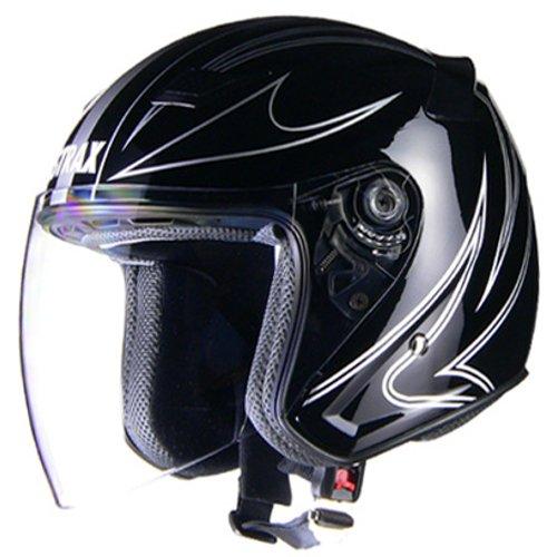 リード工業(LEAD) バイクヘルメット ジェット STRAX ブラック M SJ-9 -