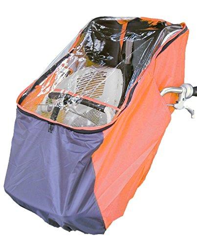 LAKIA(ラキア) 子供乗せ自転車用フロント用チャイルドシートレインカバー オレンジ オレンジ