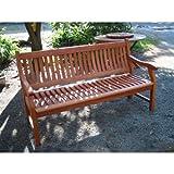 New Jersey Gartenbank 2-Sitzer  Sitzbank  Holzbank  Eukalyptus - 3