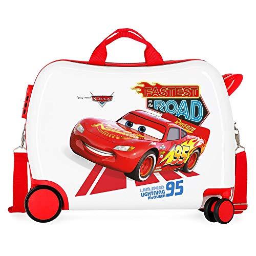 Disney Cars Good Mood Maleta Infantil Multicolor 50x38x20 cms Rígida ABS Cierre combinación 34L 2,1Kgs 4 Ruedas Equipaje de Mano