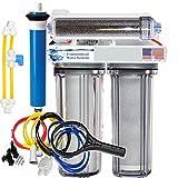 RO/DI Reverse Osmosis Aquarium/Reef System 4 Stage Clear Manual Flush Valve 150 GPD