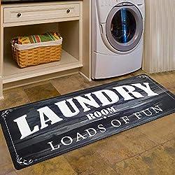 USTIDE Laundry Room Decor Loads of Fun Rug Floor Mat