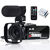 """Video Camera Camcorder WiFi FHD 1080P 30FPS 26MP YouTube Vlogging Camera 16X Digital Zoom 3.0""""..."""