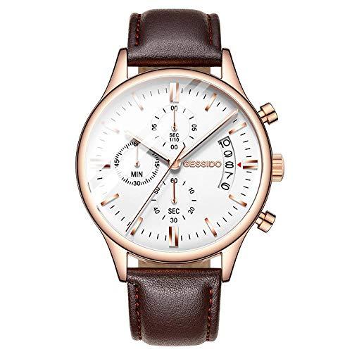 Orologi Da Polso,Cronografo Sportivo Impermeabile A 6 Lancette, Luminoso, Impermeabile, Oro Rosa Bianco Cappi