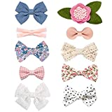 JoCoDesigns Baby Girl Hair Clips, Bows Barrettes Fully Lined Alligator Clip Hair Accessories for Little Girls Kids Children, Sweet, Small