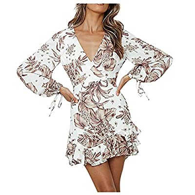 NOTE:It is Asian size. Please choose the appropriate size according to the size chart in our Product Picture. Fashion design keep you comfortable and cool. This chic dress is the most beautiful presentation of your wardrobe. Suitable for party, casua...