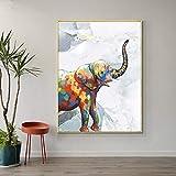 mlpnko Bebé Elefante DIY Paint by Number Kits Decoración para el hogar Imagen de Pared Valor Regalo