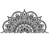 Sticker Mandala, Migaven Boho Bohème Mandala Fleur PVC Mur Fenêtre Autocollant Décoration Murale Stickers pour La Maison Tête De Lit Yoga Studio Noir
