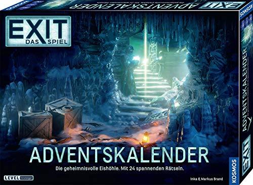 KOSMOS 693206 EXIT - Das Spiel Adventskalender 2020 Die geheimnisvolle Eishöhle, mit 24 spannenden Rätseln ab 10 Jahre, Escape Room Spiel vor Weihnachten, für Kinder Jugendliche und Erwachsene