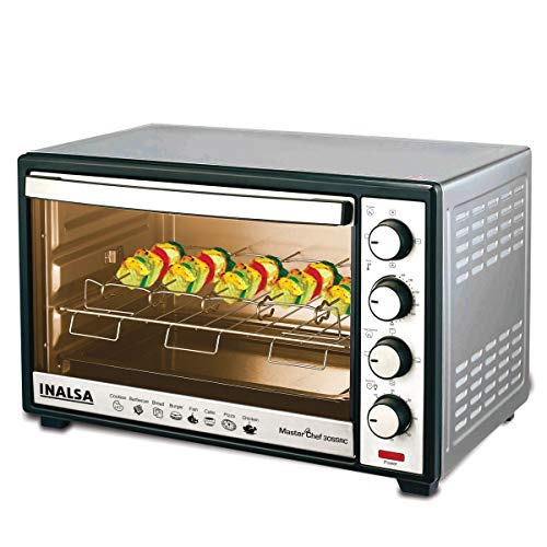 Inalsa Oven MasterChef 30SSRC OTG (30 Liters) with Motorised Rotisserie and Convection, 1600W, 4...