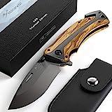 BERGKVIST Couteau de poche K29 Titanium 3-en-1 Couteau pliant I Couteau de...