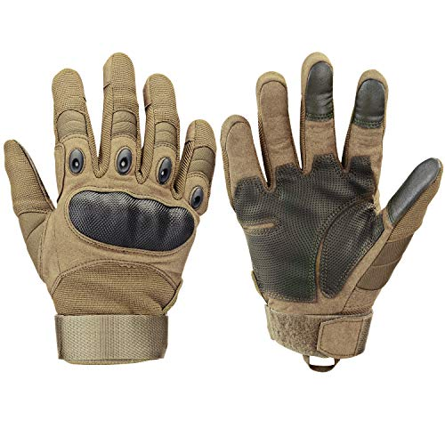 Xnuoyo Gomma dura Knuckle Full Finger e Mezza Finger Gloves Guanti di protezione Touch Screen Guanti...