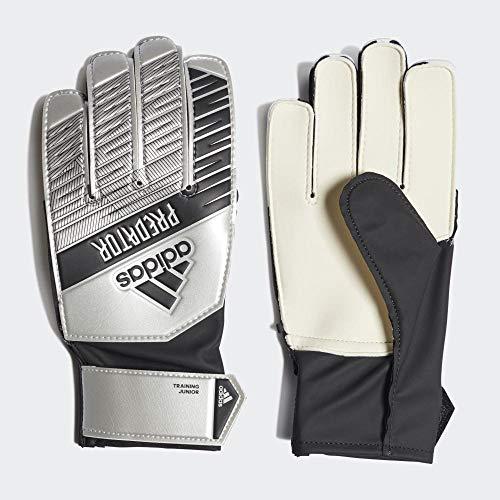 adidas Kinder PRED TRN J Soccer Gloves, Silver met./Black, 5