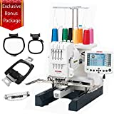 Janome MB-4S Four-Needle Embroidery Machine with included Hat Hoop, Lettering Hoops