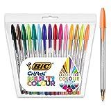 BIC Cristal Multicolour - Pack de 15 unidades, bolígrafos de punta ancha (1,6mm), colores surtidos