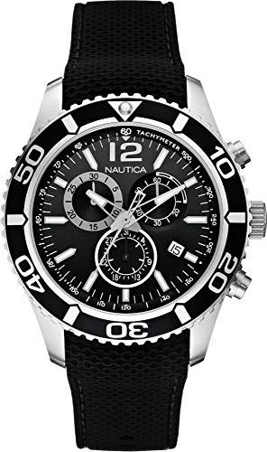Nautica Orologio Cronografo Quarzo Uomo con Cinturino in Gomma A15102G