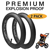 [2-Pack] 16'' x 1.5/1.75 Premium Explosion Proof Inner Tire Tube for BOB Revolution SE/Flex/Pro/Sport Utility/Ironman Strollers - The Perfect BOB Stroller Tire Tube Replacement
