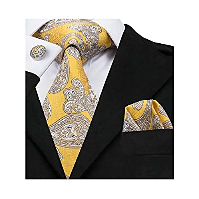 ①Perfect Collocation-Necktie+handkerchief+a pair of cufflinks, easy-matching for all shirts and suits! ②Unique Design-Paisley is the perfect blending of retro and vogue styles which makes men more attractive and elegant in all formal and informal occ...