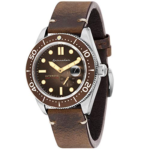SPINNAKER Croft Herren-Armbanduhr 43mm Armband Leder Automatik SP-5058-02