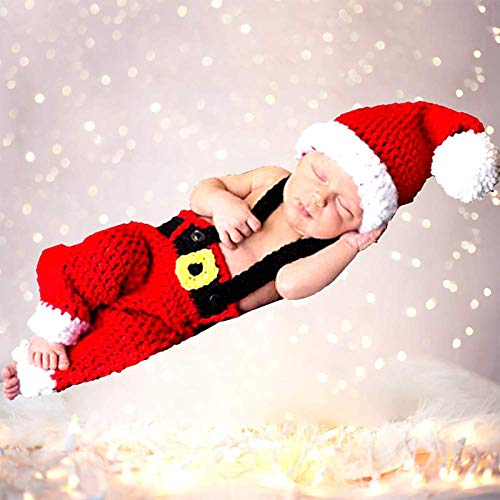Newborn Baby Photography Props Outfits Santa Claus Baby Outfits...