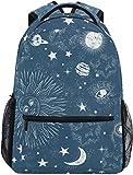 Nigel Tomm Star Moon Galaxy Constellation Mochila Grande Personalizada Laptop iPad Tablet Travel School Bag