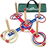 Elite Sportz Equipment Ring Toss Game - Outdoor Games for Kids & the Whole Family - Easy to Set Up w/ Bonus Carry Bag - Garden & Camping Play Equipment for Children