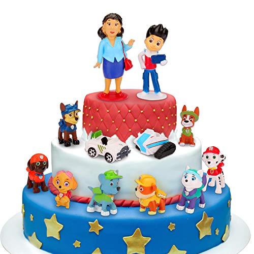 Adornos para tartas, 12 minifiguras, adornos para tartas, mi