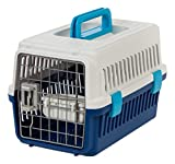IRIS USA, Inc. Extra Small Deluxe Pet Travel Carrier, Navy, 18-inch (302000)