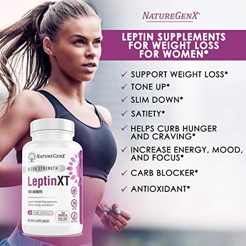 NatureGenX - Leptin XT (2-Pack) Leptin Rresistance Supplements for Weight Loss -Leptin Hormone Supplements - Vegan - 60 Pills -Leptin Burn for Women 7