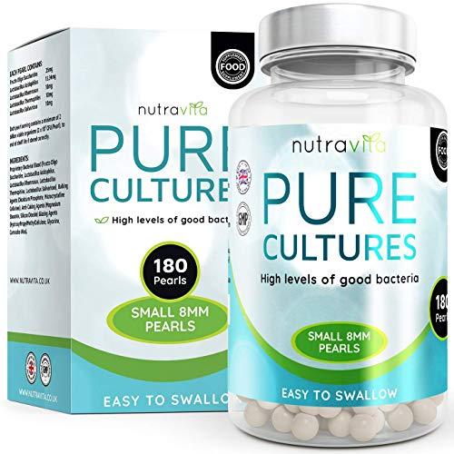 Probiotici Integratore di 180 capsule (Fornitura di 6 mesi) con 5 ceppi batterici - Prodotto in Regno Unito da Nutravita