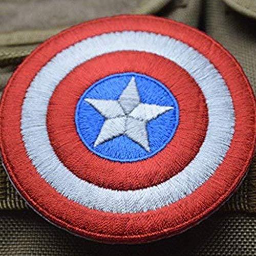 OYSTERBOY Capitán América Shield - Parche táctico para decoración de Hook y Loop