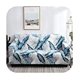 VACHE Big Flower 1/2/3/4 Seat Sofa Cover All Inclusive Elastic Seat Covers Couch Covers Covering Slipcovers Single Seat Double Seat-K332-2Pcs Cushion Covers