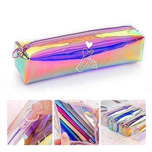 Womdee Astuccio con Cerniera Zip Pencil Case, Astuccio per Matita Laser Trasparente Sacchetto di...