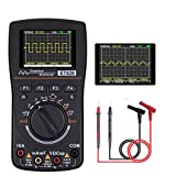 Updated Oscilloscope Multimeter 2 IN 1, Kecheer 2.4 Inches Color Screen Intelligent Graphical Handheld Oscilloscope Multimeter 1MHz Bandwidth, 2.5Msps Sampling Rate, DC/AC Voltage/Current Test