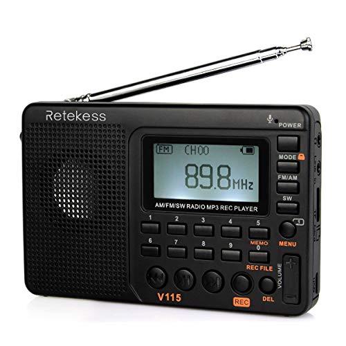 Retekess V115 Portable AM FM Radio with Shortwave Radio MP3...