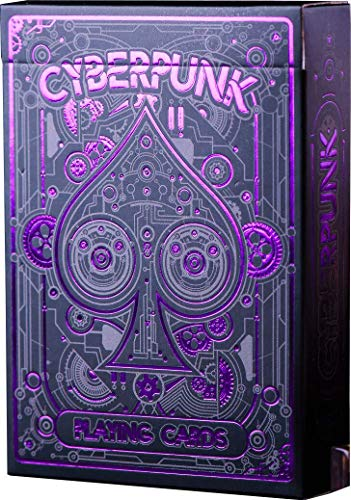 Cyberpunk Purple Playing Cards, Deck of Cards with Free Card...