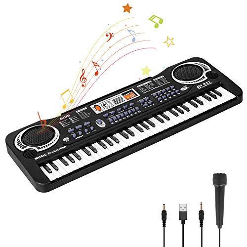 Piano para Niños con Micrófono de 61 Teclas