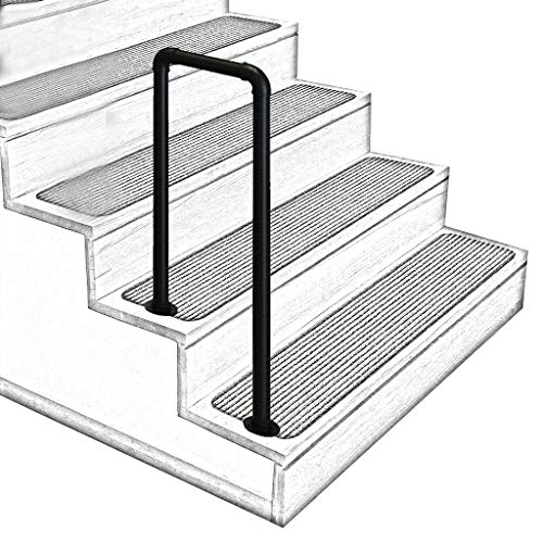 Best Stair Handrails Buying Guide Gistgear | Safety Rails For Outside Steps | Stair Handrail | Wrought Iron | Steel | Front Porch | Deck Railing