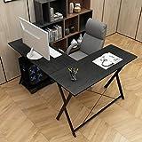 DlandHome Bureau Informatique en Forme L Table 120 + 110cm en Bois pour...